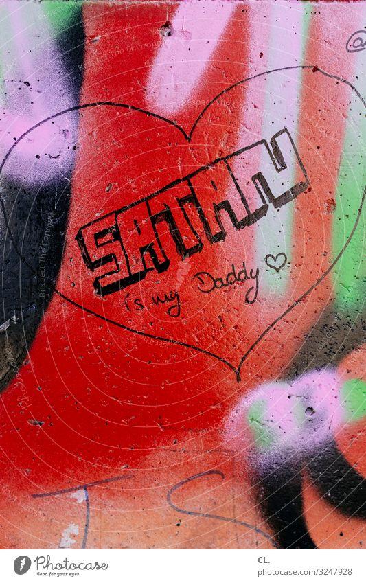 vater unser Mauer Wand Zeichen Schriftzeichen Graffiti Herz lustig Gefühle Leidenschaft Liebe Farbe Idee Inspiration Leben skurril Teufel Vater Vatertag