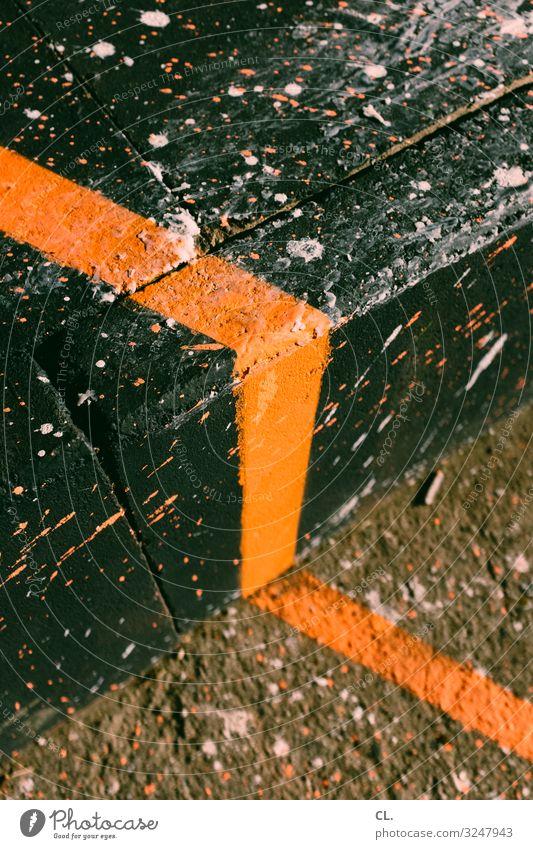 zielstrebig Farbe Farbstoff Wege & Pfade Kunst orange Linie Treppe ästhetisch Zeichen malen Boden Ziel Inspiration eckig Entschlossenheit Farbfleck