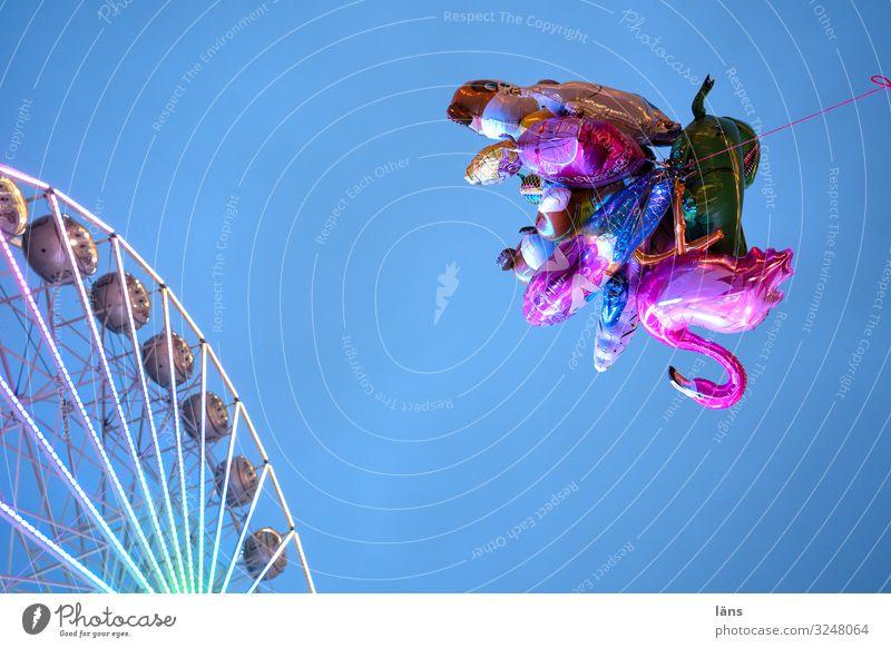 Luftballons mit Riesenrad Weihnachtsmarkt Jahrmarkt Himmel Rostock