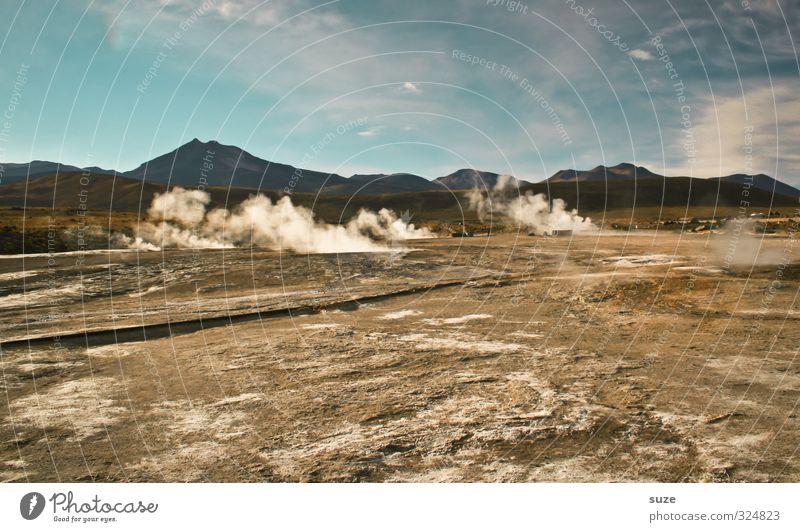 Heiße Quellen Himmel Natur Einsamkeit Landschaft Umwelt Berge u. Gebirge Sand außergewöhnlich Horizont Luft Erde Klima trist Urelemente Hügel Wüste
