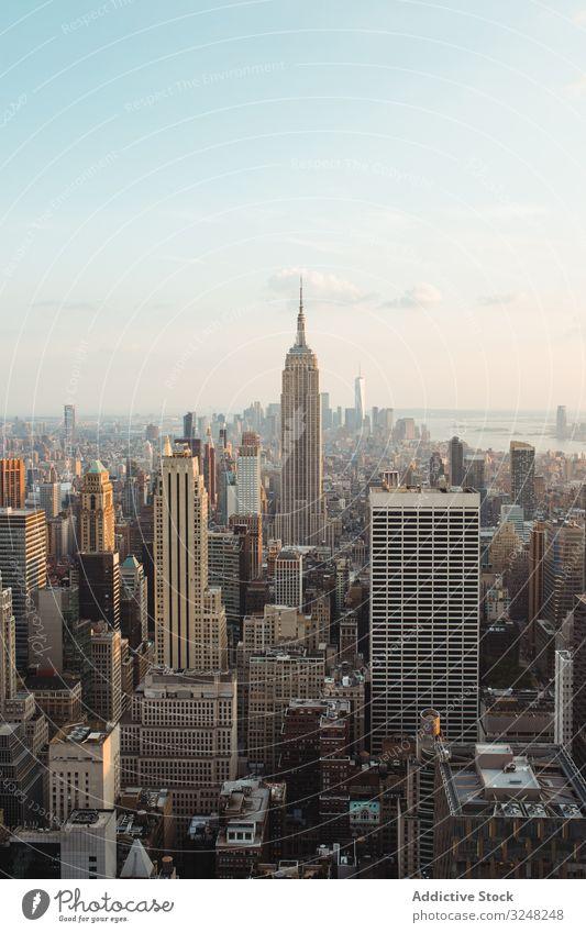 ansicht und landschaft der stadtlandschaft von new york Landschaft Großstadt Gebäude Skyline Wahrzeichen urban Wolkenkratzer reisen Architektur USA amerika