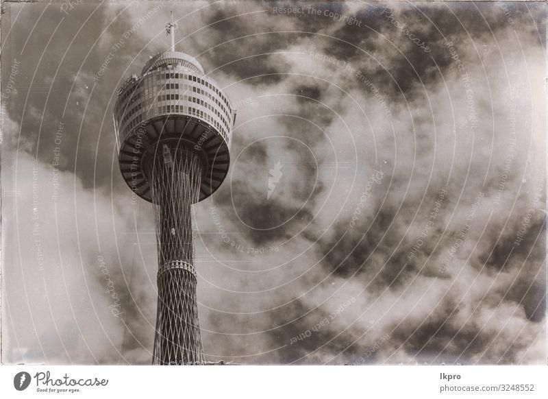 Blick auf das Turmauge am Himmel Ferien & Urlaub & Reisen Tourismus Sightseeing Business Wolken Skyline Hochhaus Gebäude Architektur Kommunizieren hoch neu blau