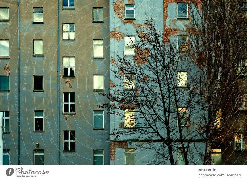 Fassade in der Dämmerung Berlin Großstadt Stadtzentrum Gebäude Hauptstadt Haus Herbst Menschenleer Berlin-Mitte Textfreiraum Stadtleben Häusliches Leben