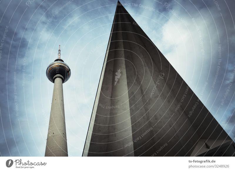 Die Pyramide am Alex Technik & Technologie Fortschritt Zukunft Telekommunikation Skulptur Kultur Fernsehen Himmel Wolken Berlin Berlin-Mitte Alexanderplatz