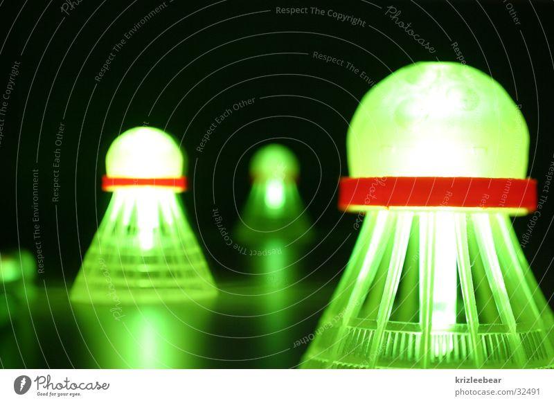 speedminton#2 Sport Ball Fitness leuchten Spielen dunkel grün schwarz Freizeit & Hobby Freude stagnierend Badminton 3 night glow light speed it mehrere