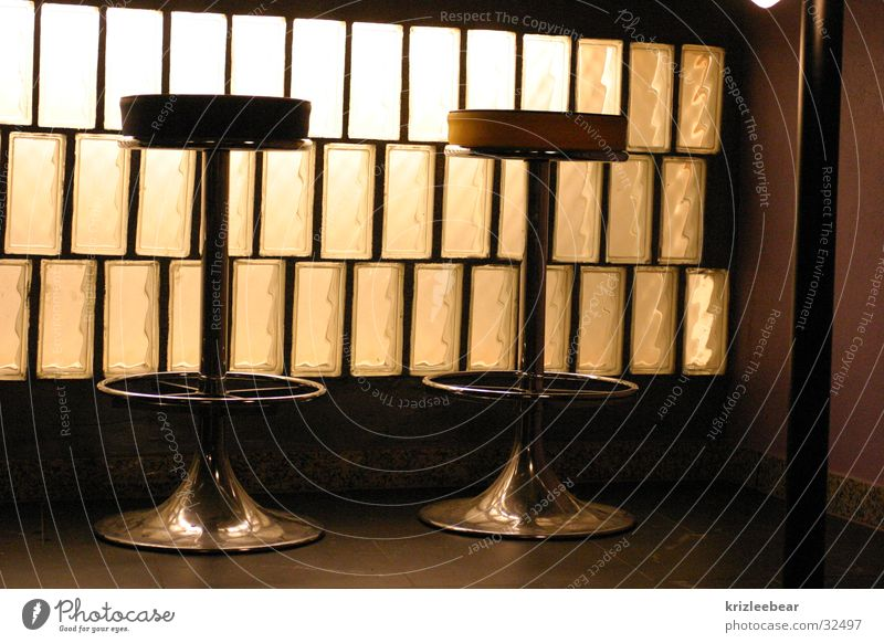 an der bar #1 Einsamkeit ruhig Wärme weich Stuhl Bar Physik Hocker