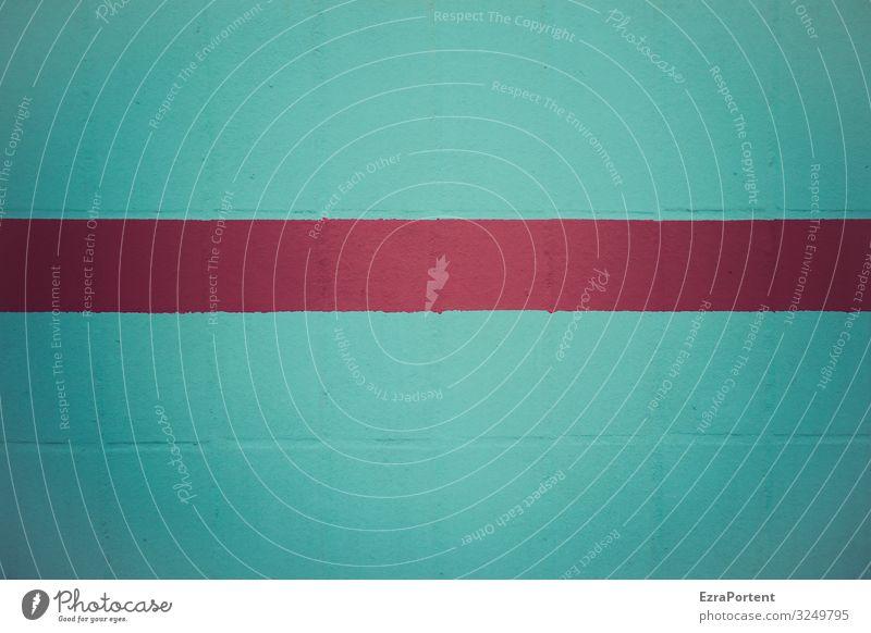 ich wünsche ein frohes ... Haus Mauer Wand Fassade Linie Streifen ästhetisch blau rot Design graphisch Grafik u. Illustration Grafische Darstellung