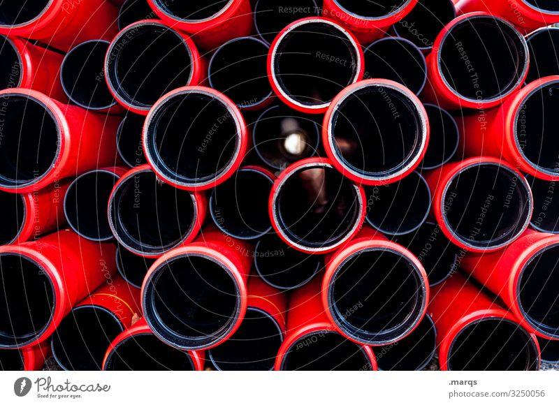 Rohre Röhren Strukturen & Formen Muster Farbfoto Kunststoff schwarz Baustelle viele Abflussrohr Industrie Ordnung Außenaufnahme Arbeit & Erwerbstätigkeit bauen