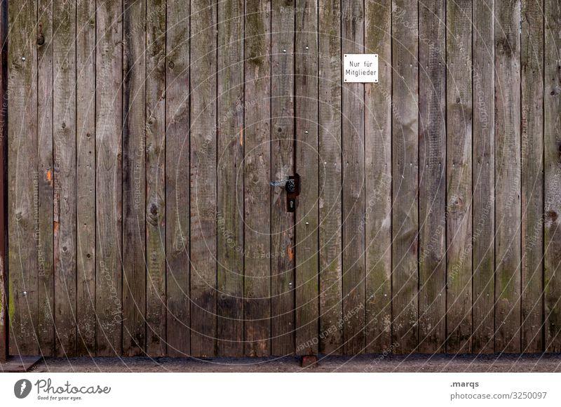 Nur für Mitglieder Holzwand Tor Schilder & Markierungen Beschränkung Einlass geschlossene gesellschaft türklinke Ausgrenzung
