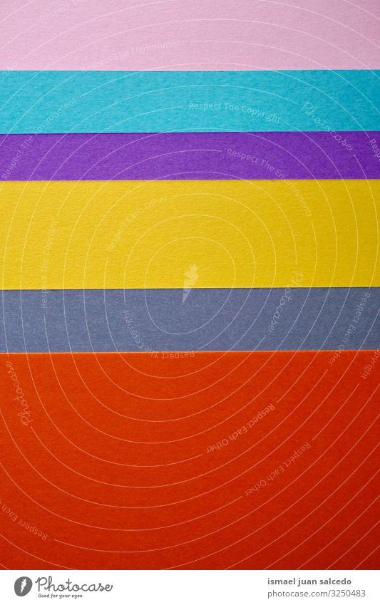 bunte Papiere, mehrfarbiger Hintergrund Farbe abstrakt Hintergrundbild Konsistenz Linie Muster Dekoration & Verzierung Design Material Vielfalt