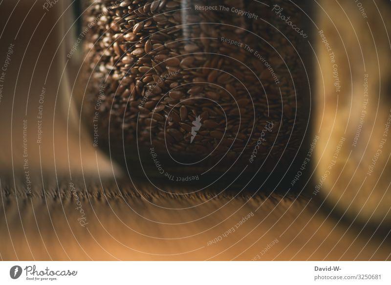 Leinsamen Lebensmittel Getreide Brot Ernährung Bioprodukte Vegetarische Ernährung Diät Glas Kunst Umwelt Natur Klima Klimawandel nachhaltig Einmachglas