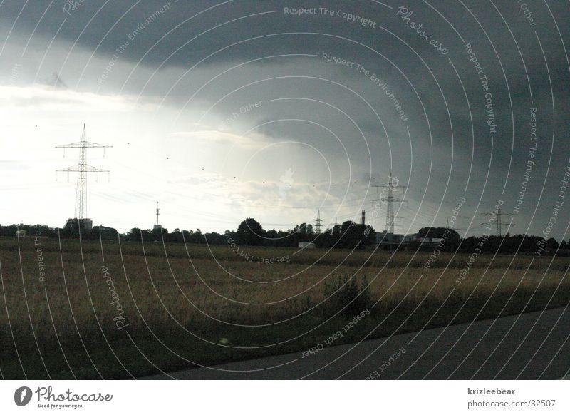 untergang Sommer Wolken Regen Umwelt fahren Gewitter gebrochen Autofahren Umgebung Augsburg Lichtstimmung