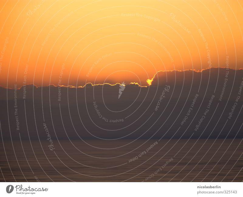 billich | Sonnenuntergang ohne Sonne Himmel Ferien & Urlaub & Reisen Sommer schön Meer Wolken Ferne Strand Umwelt Wärme Freiheit Tourismus orange frei Ausflug
