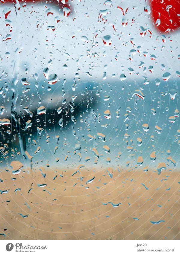 Blick aufs Meer Strand Ferien & Urlaub & Reisen Regen Europa Aussicht