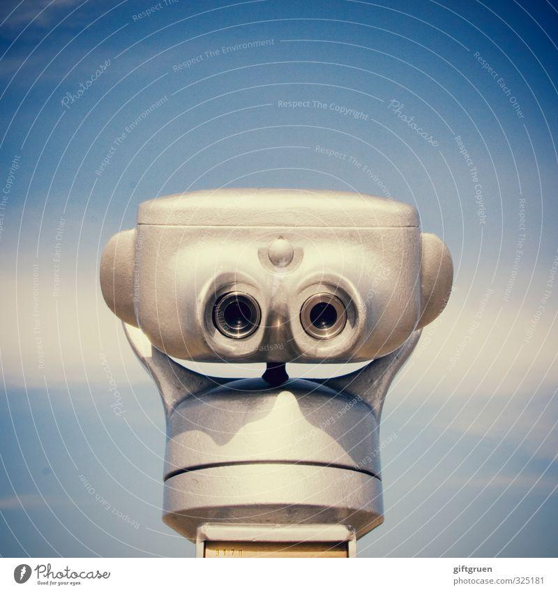 :-) Himmel blau Meer Gesicht Ferne Auge Horizont Tourismus Perspektive Zukunft Technik & Technologie nah silber Sightseeing Erwartung Optimismus