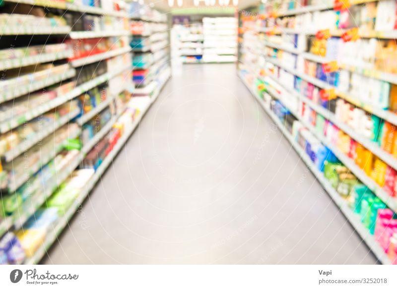 Marktgeschäft oder Supermarktinterieur Lebensmittel Lifestyle kaufen Reichtum Design Kosmetik Parfum Gesundheitswesen Behandlung Innenarchitektur