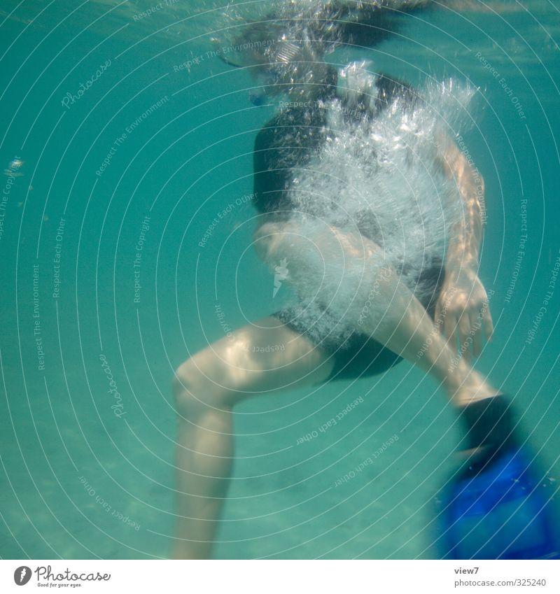 #325240 Tourismus Ausflug Sommer Sommerurlaub Strand Meer tauchen Schnorcheln Tauchgerät Schwimmen & Baden Schwimmhilfe Wassersport lernen Junger Mann