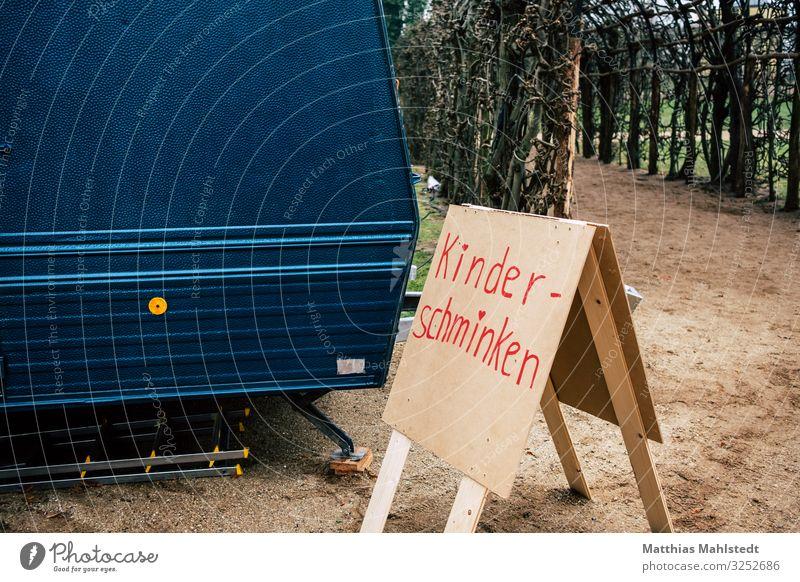 Kinder-Schminken Weihnachten & Advent Veranstaltung Wohnwagen Zeichen Schriftzeichen Schilder & Markierungen Hinweisschild Warnschild einfach blau braun rot