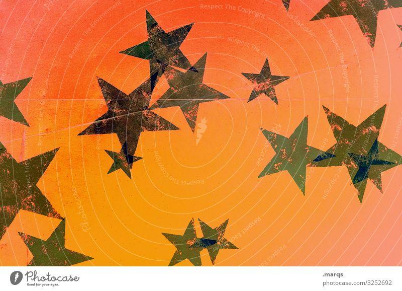 Advent Veranstaltung Feste & Feiern Weihnachten & Advent Stern (Symbol) schön trashig grün orange schwarz besinnlich Hintergrundbild Wärme Farbfoto abstrakt
