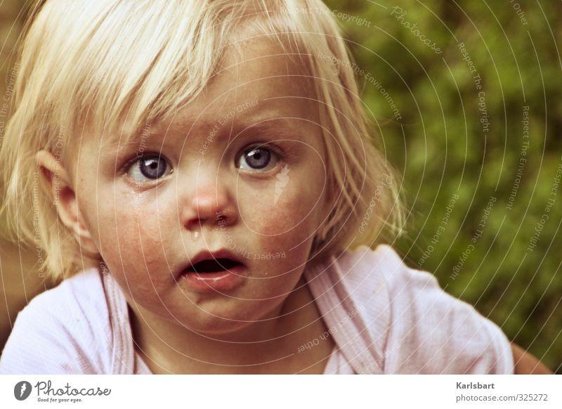 aus Tränen erwachen Mensch Kind Natur Sommer Mädchen Leben Traurigkeit Bewegung Frühling Kopf Garten blond Kindheit beobachten Hoffnung Neugier