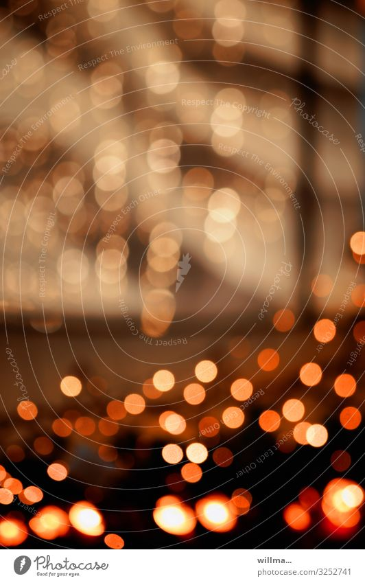 Weihnachtliches Funkeln, Bokeheffekt Weihnachten & Advent Licht glänzend Lichtkugel Weihnachtsmarkt Illumination Beleuchtung leuchten festlich Unschärfe