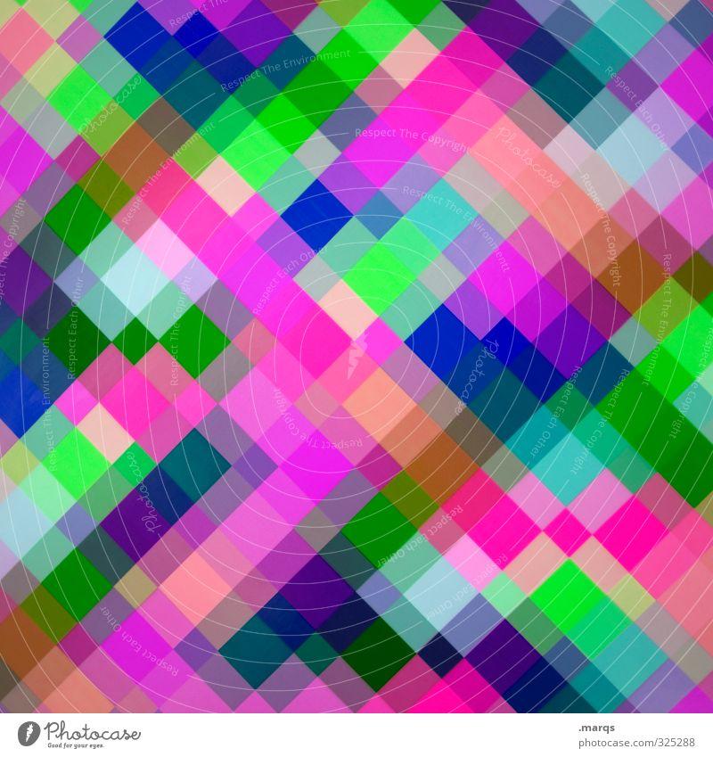Karo blau Farbe grün Lifestyle Hintergrundbild Stil außergewöhnlich Design Linie modern Ordnung verrückt Coolness violett neu viele