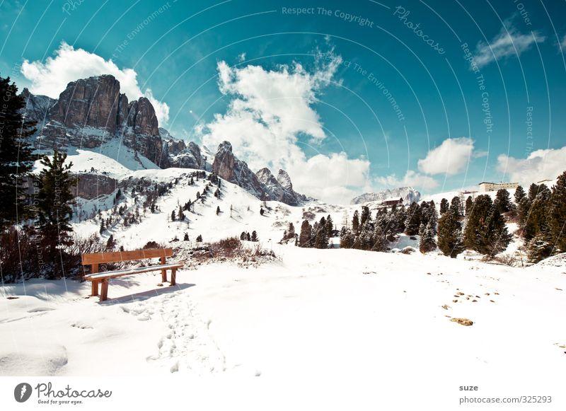... es sitzen gerade alle in einem Boot Himmel Natur Ferien & Urlaub & Reisen blau Baum Landschaft Wolken Umwelt Berge u. Gebirge Schnee Frühling