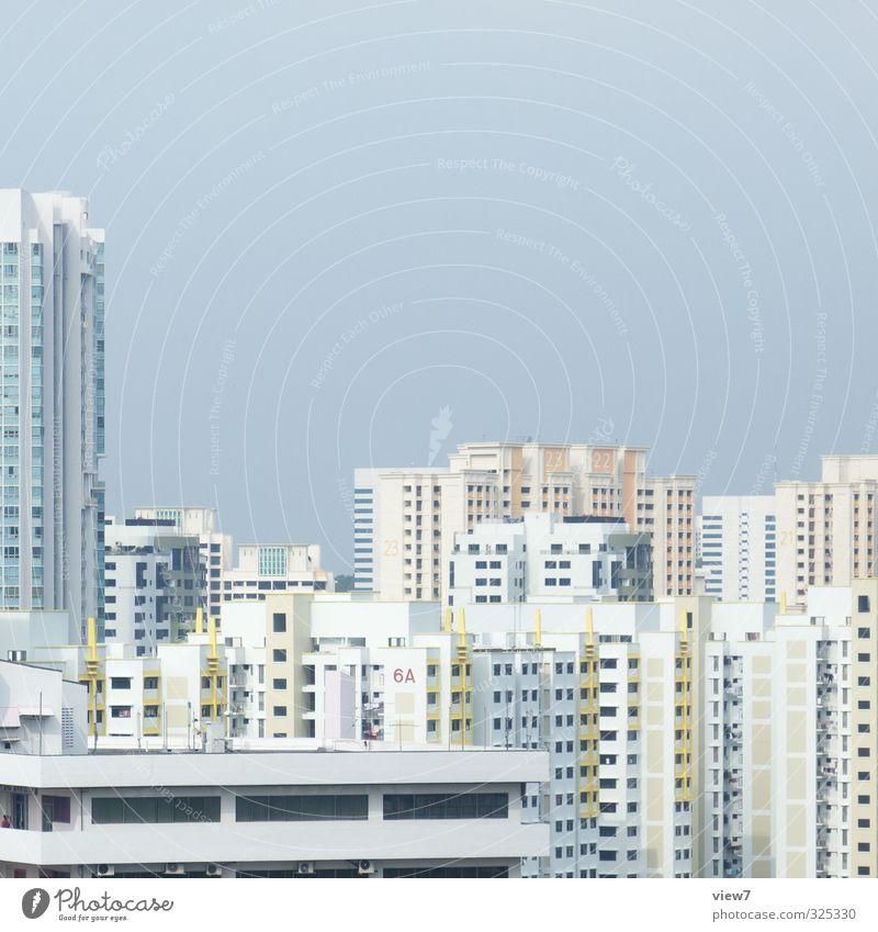 #325330 Baustelle Wolkenloser Himmel Stadt Hauptstadt Hafenstadt Stadtzentrum Skyline Haus Hochhaus Bauwerk Architektur Stein Wachstum groß Unendlichkeit gelb