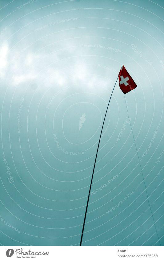 Der Himmel Natur Schweizer Coolness authentisch einfach Freundlichkeit hoch einzigartig modern oben positiv dünn blau rot weiß Kraft Mut Tatkraft Leidenschaft
