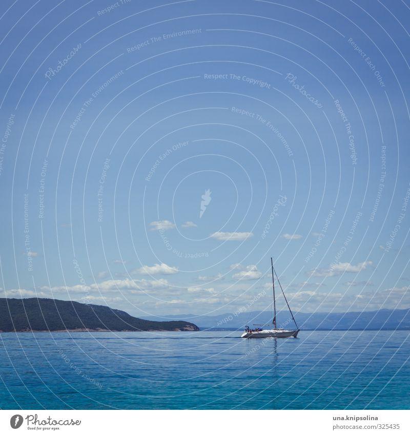 Du suchst das Meer Himmel Ferien & Urlaub & Reisen Sommer Sonne Erholung Landschaft ruhig Wolken Strand Ferne Schwimmen & Baden Freizeit & Hobby Wellen
