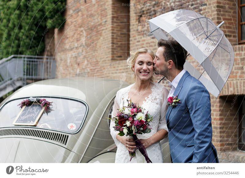 verliebt, verlobt, verheiratet Feste & Feiern Hochzeit Mensch maskulin feminin Paar Leben 2 18-30 Jahre Jugendliche Erwachsene Park Dorf Mauer Wand Treppe