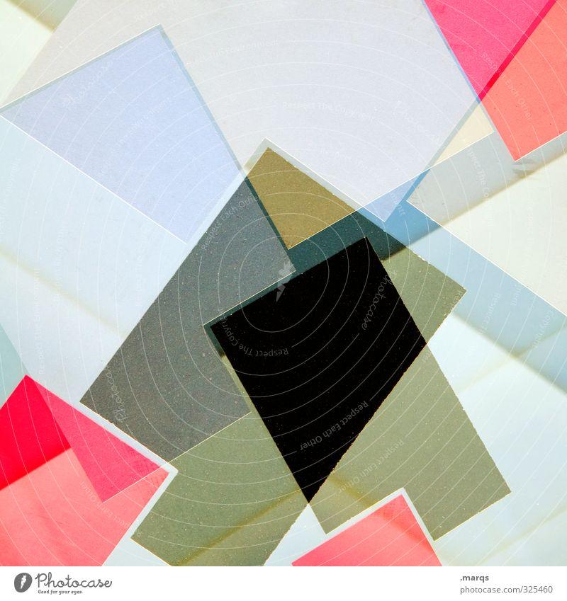 Puzzle Lifestyle Stil Design Kunststoff Coolness eckig einzigartig verrückt blau rot schwarz weiß chaotisch Farbe Ordnung Perspektive Irritation