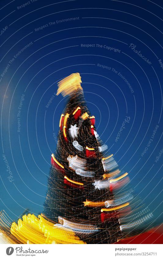 eierpunschblick Lifestyle Freizeit & Hobby Weihnachten & Advent Baum Stadt Sehenswürdigkeit Ornament drehen leuchten blau mehrfarbig Weihnachtsbaum x-mas