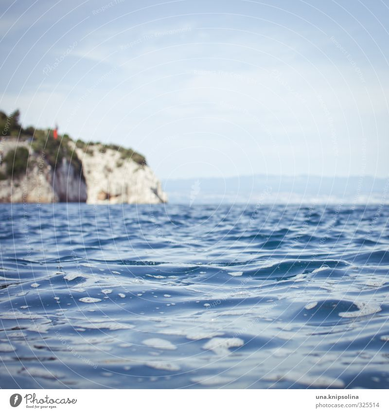 mehr meer für alle Ferien & Urlaub & Reisen Sommerurlaub Umwelt Landschaft Wasser Himmel Schönes Wetter Wellen Küste Meer Insel nass blau Farbfoto Außenaufnahme