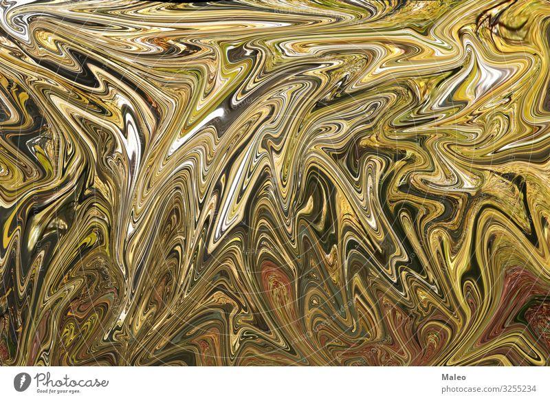 Abstrakter goldener Wellenhintergrund abstrakt Grafik u. Illustration Design Strukturen & Formen Hintergrundbild schön Dekoration & Verzierung Tapete Kunst