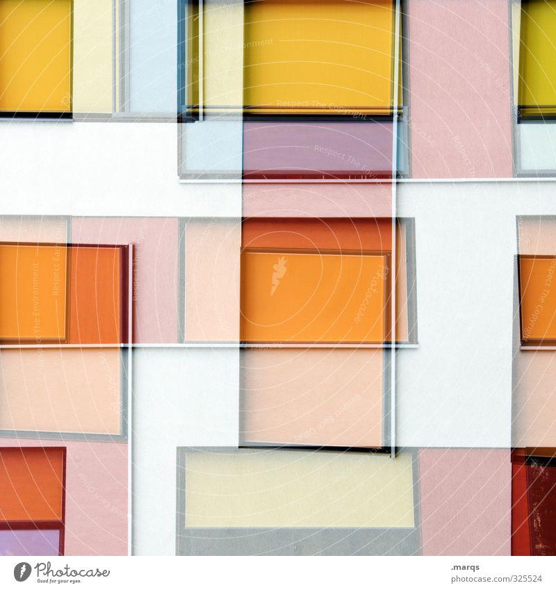 Maze Lifestyle elegant Stil Design Architektur Fassade Fenster außergewöhnlich eckig trendy modern schön verrückt gelb orange rot weiß Farbe Perspektive
