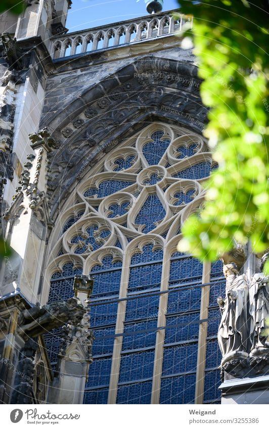Aachen Dom Stadt Kirche Originalität stark grün Christentum Kirchenfenster heilig Farbfoto Außenaufnahme Menschenleer Schwache Tiefenschärfe