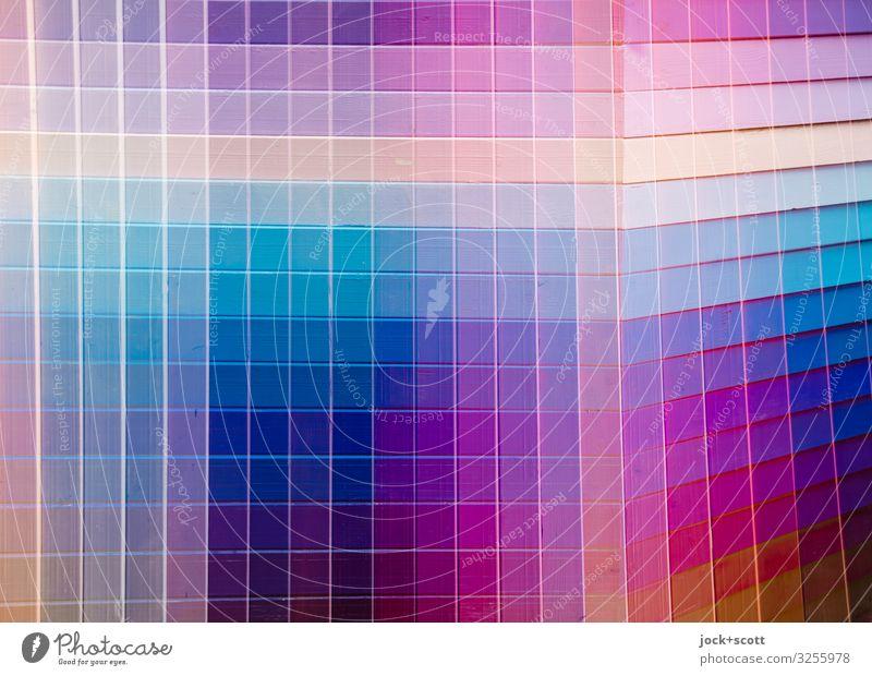Farbe trifft Ton = Karo Design Grafik u. Illustration Holz Streifen Netzwerk eckig viele Doppelbelichtung Farbwert Reaktionen u. Effekte mehrfarbig