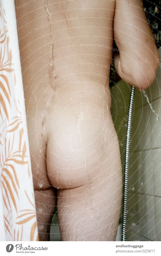 waschtag III Körperpflege Haut duschen Mensch maskulin Junger Mann Jugendliche Rücken Gesäß 1 18-30 Jahre Erwachsene Dusche (Installation) Wasser Erholung