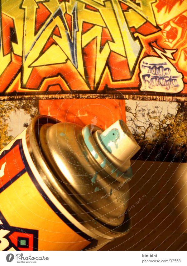 Spraydose1 mehrfarbig Dose Stil Fototechnik Farbe Graffiti