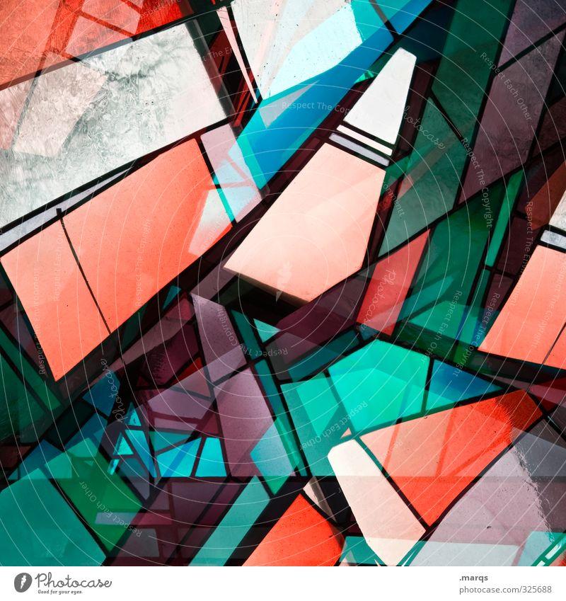 Fenster abstrakt Lifestyle elegant Stil Design Glas außergewöhnlich Coolness trendy einzigartig modern verrückt mehrfarbig chaotisch Farbe Perspektive