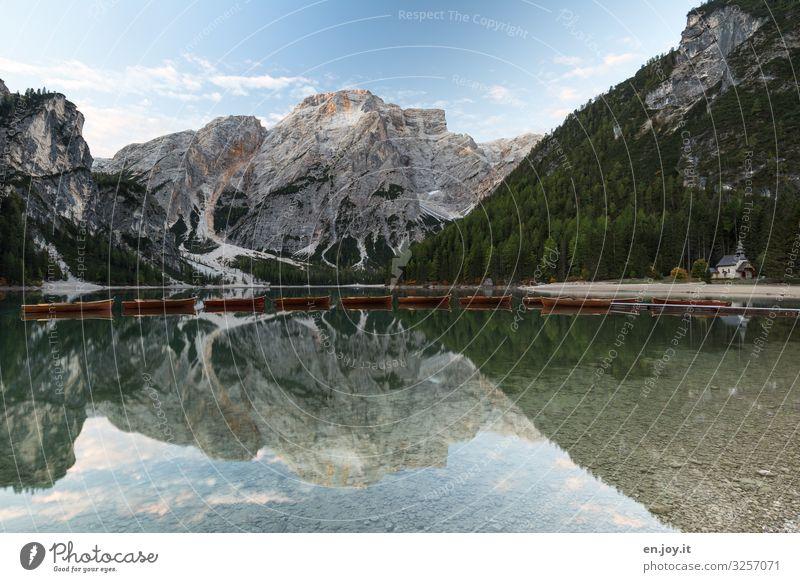 lange Leine Himmel Ferien & Urlaub & Reisen Natur Landschaft Berge u. Gebirge Tourismus See Ausflug Kirche Idylle Italien Gipfel Sauberkeit Alpen Seeufer