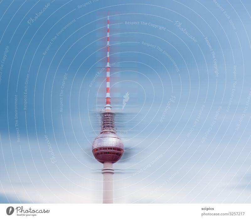 Berliner Fernsehturm Design Tourismus Ausflug Sightseeing Wirtschaft Dienstleistungsgewerbe Werbebranche Baustelle Business Unternehmen Architektur Himmel