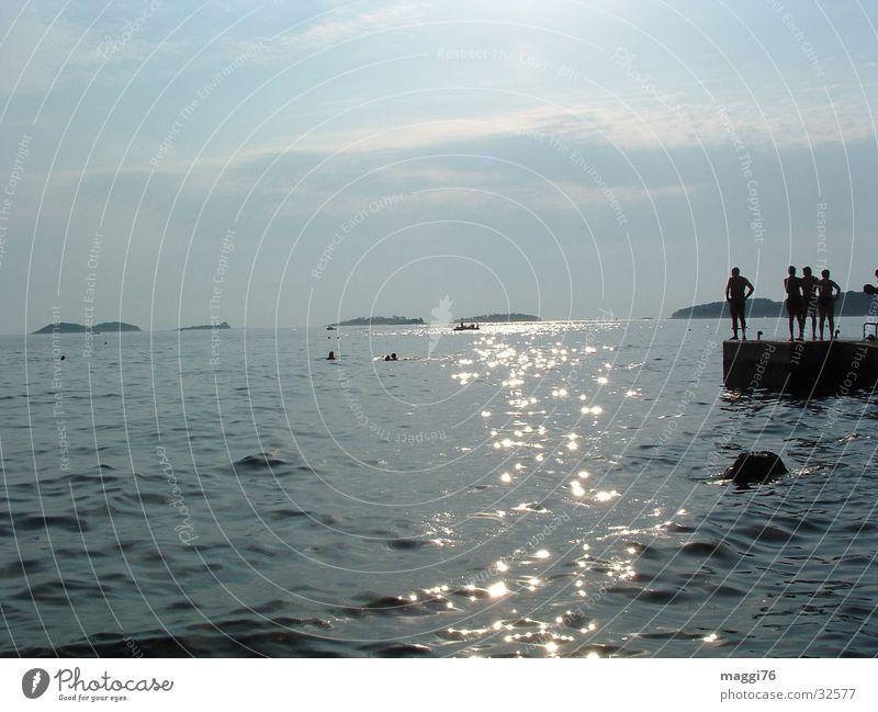 wasserspiegelung Wasser Meer Ferien & Urlaub & Reisen Steg Adria Istrien