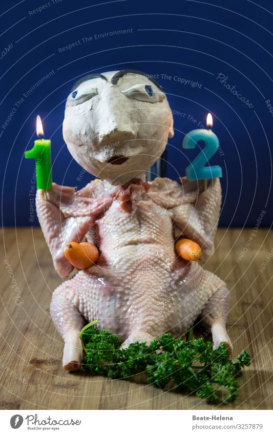 Einladung zum Mittagessen Lebensmittel Fleisch Gemüse Ernährung Haushuhn Hähnchen Kerze Kerzenstimmung Ziffern & Zahlen Arbeit & Erwerbstätigkeit wählen kaufen