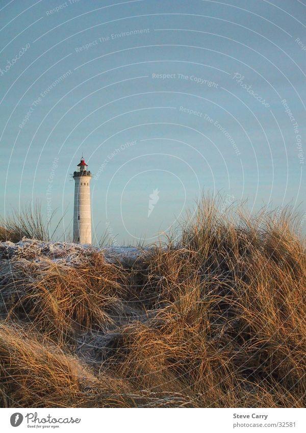 Leuchtturm Hvidesande Strand Europa Stranddüne Dänemark