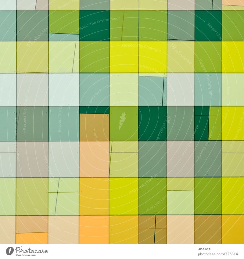 Tischdecke Lifestyle elegant Stil Design Fassade ästhetisch außergewöhnlich hell trendy modern schön gelb grün orange Farbe Irritation Muster kariert