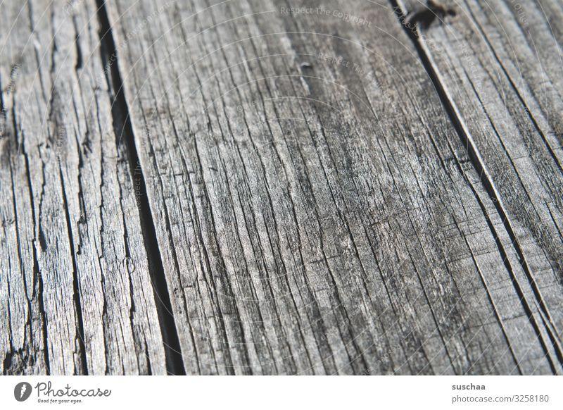 holzig Holz Holzbrett Holzplanken Holztisch Holzbank Detailaufnahme Nahaufnahme fadenförmig Laufrichtung Splitter Furche brennbar Brennholz alt restaurieren