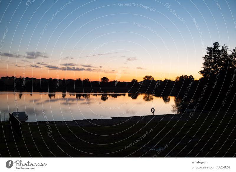 Sunset Leben harmonisch Wohlgefühl Zufriedenheit Sinnesorgane Erholung ruhig Meditation Angeln Sommerurlaub Bildung Natur Landschaft Urelemente Wasser