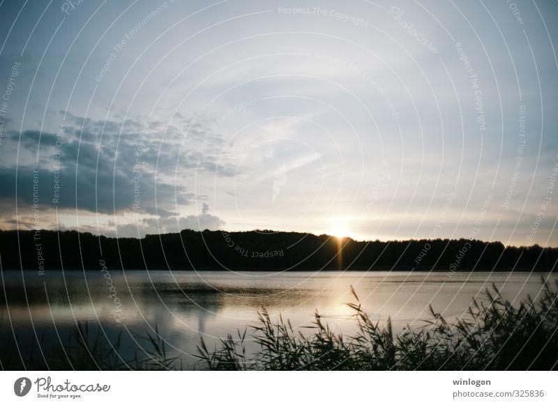 Sonnenuntergang Ferien & Urlaub & Reisen Tourismus Ausflug Ferne Expedition Fahrradtour Sommer Sommerurlaub Meer Insel wandern Fluss Natur Landschaft Luft